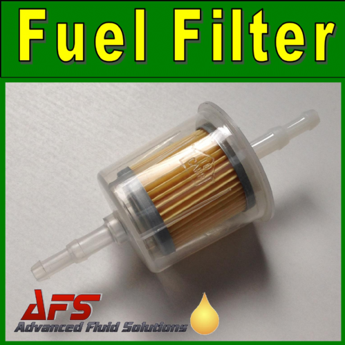 LARGE Inline Petrol/Diesel Fuel Filter - 6mm & 8mm Hose Tails